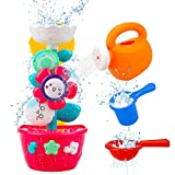 Hommate Bath Toys for Toddlers Babies and Kids 1 2 3 Year Old Boys Girls Bathtub Toys Gifts with 1...
