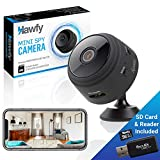 Hawfy Mini HD Wireless Hidden Camera - Magnetic Feature for Easy Installation with SD Card and...