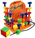 Skoolzy Peg Board Set - Montessori Toys for Toddlers and Preschool Kids | 30 Pegs for Learning...