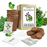 Herb Garden Starter Kit (Indoor) Natural, Organic Planting | Pots, Markers, Seed Packets, Soil Mix |...