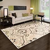Superior Designer Augusta Collection Area Rug, 8mm Pile Height with Jute Backing, Beautiful Floral...