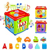 Baby Activity Cube, Shape Sorter Blocks Baby Toy 12-18 Months, Music Learning Toys for Toddlers...