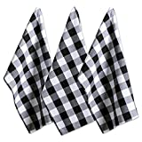 DII Cotton Buffalo Check Plaid Dish Towels, (20x30', Set of 3) Monogrammable Oversized Kitchen...