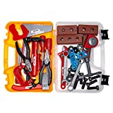 ABCZ Plastic Tools for Kids - Construction Workshop Mechanic and Power Tool Toy Kit for Kids Pretend...