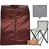 KUPPET Portable Infrared Home Spa, Infrared Negative Ion Portable Sauna, with Heating Foot Pad and...
