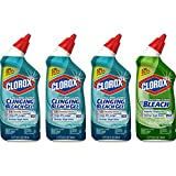 Clorox Toilet Bowl Cleaner with Bleach Variety Pack - 24 Ounces, 4 Pack