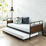 Zinus Eli Twin Daybed and Trundle Frame Set / Premium Steel Slat Support / Daybed and Roll out...