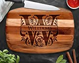 Personalized Cutting Board, Teak Wood, Engraved Cutting Board, Custom Cutting Board, Wedding Gift,...