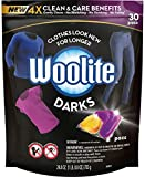 Woolite Darks Pacs, Laundry Detergent Pacs, 30 Count, for Standard and HE Washers
