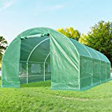 Quictent 2 Doors 20 Stakes Heavy Duty 19.7 x 10 x 6.6 ft Portable Greenhouse Large Walk-in Green...