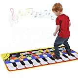 Cyiecw Piano Music Mat, Keyboard Play Mat Music Dance Mat with 19 Keys Piano Mat, 8 Selectable...