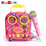 Bluetooth Speaker Children's Karaoke Speaker Portable Microphone Beach Handbag Karaoke Bluetooth...