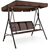 Best Choice Products 2-Person Outdoor Convertible Canopy Swing Chair Bench w/Weather Resistant...