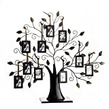 Klikel Family Tree Picture Frame Display with 10 Hanging Picture Photo Frames | Large 20 x 18 Metal...