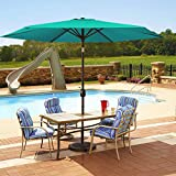 MOVTOTOP Patio Umbrella 9Ft UPF 50+ Premium Outdoor Table Umbrella, Market Umbrella with Push Button...