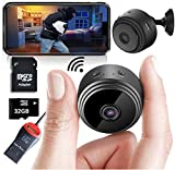 Mini Spy Camera Wireless Hidden Home WiFi Security Cameras with App 1080P, Inc 32GB SD Card + Plus...