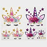 Calculs Unicorn Birthday Iron on Transfers for Birthday Girl Magical HTV Decorations Stickers for...