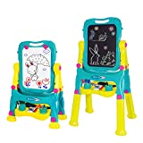 NextX Kids Double Sided Adjustable Standing Art Easel Chalkboard and Magnetic Dry Erase...