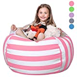 WEKAPO Stuffed Animal Storage Bean Bag Chair for Kids   38' Extra Large Beanbag Cover for Child  ...