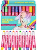 Hair Chalk Birthday Gifts For Girls - 10 Colorful Hair Chalk Pens. Temporary Color, Presents For...