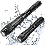 MsForce Brightest & Best LED Tactical Flashlights - Water Resistant, 2000 Lumen Bright Flashlight &...