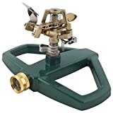 Melnor Impact Lawn Sprinkler, Metal Head & Metal Sled, Adjustable Angle and Distance, Waters Up to...