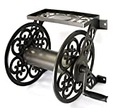 Liberty Garden 708 Steel Decorative Wall Mount Garden Hose Reel, Holds 125-Feet of 5/8-Inch Hose -...