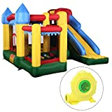 Costzon Mighty Inflatable Bounce House, Castle Jumper Moonwalk Slide Bouncer, Kids Jumper with Balls...