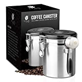 Bean Envy Airtight Coffee Canister - 16oz - Sealed Cantilever Lid with Co2 Gas Release Wicovalve &...