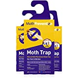 Powerful Moth Traps for Clothes Moths | 3-Pack | Refillable, Odor-Free & Natural from MothPrevention...
