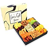 Holiday Nut & Dried Fruit Gift Basket, Healthy Snacks Box Gourmet Christmas Food Gifts Tray, Prime...