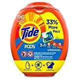 Tide PODS Laundry Detergent Liquid Pacs, Original Scent, HE Compatible, 96 Count (Packaging May...