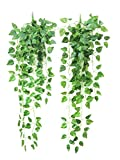 Yatim 90 cm Money Ivy Vine Artificial Plants Greeny Chain Wall Hanging Leaves for Home Room Garden...