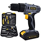 Power Tools Combo Kit With 18V Cordless Drill 77 Accessories Home Repair Kit Tool Set Cordless...