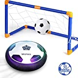 Kids Toys Hover Soccer Ball Set with 2 Goals, Air Soccer with Led Light, Excellent Time Killer for...