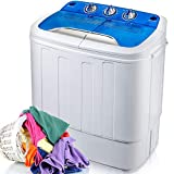 Merax Portable Washing Machine Mini Compact Twin Tub Washer Machine with Wash and Spin Cycle, FCC...