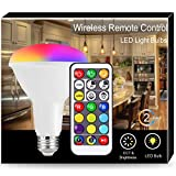 JandCase BR30 RGB LED Flood Lights, 100W Equivalent Warm+Cool White Light Bulb, 12W Dimmable...