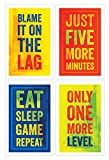 Video Game Posters, Set of 4, 11x17 Inches, Gaming Artwork, Gamer Wall Art, Boys Room Kids Print...