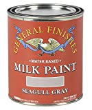 General Finishes QSGG Milk Paint, 1 quart, Seagull Gray