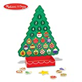 Melissa & Doug Countdown to Christmas Wooden Advent Calendar (Seasonal & Religious, Magnetic Tree,...