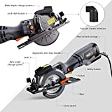 TACKLIFE Circular Saw with Metal Handle, 6 Blades(4-3/4' & 4-1/2'), Laser Guide, 5.8A, Max Cutting...