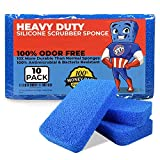 STK Heavy Duty Silicone Scrubber Sponges (10 Pack) - Modern Antimicrobial Kitchen Sponges - 100%...