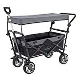 LUCKUP Collapsible Folding Wagon Stroller Cart for Kids Utility Garden Cart Collapsible with...