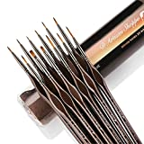 Miniature Paint Brushes Detail Set -12pc Minute Series XII Miniature Brushes for Fine Detailing &...