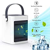 DOUHE Air Cooler,Portable Mini Air Conditioner Evaporative Air Humidifier Personal Space Cooler USB...