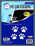 Enjoy It Pet Paw Car Stickers, 12 Pawprint Stickers, Outdoor Rated Vinyl Sticker Decals for Windows,...