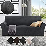RHF Velvet-Sofa Slipcover, Stretch Couch Covers for 3 Cushion Couch-Couch Covers for Sofa-Sofa...