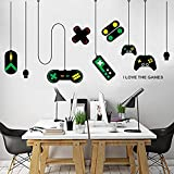 huangliao Game Wall Stickers,Gaming Controller Joystick Playroom Wall Decals for Bedroom Living Room...