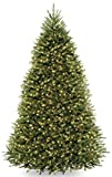 National Tree 9 Foot Dunhill Fir Tree with 900 Dual LED Lights and 9 Function Footswitch, Hinged...