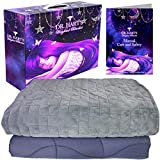 Dr. Hart's Weighted Blanket Deluxe Set | Patented ContourWave Weighted Blanket & Luxurious...